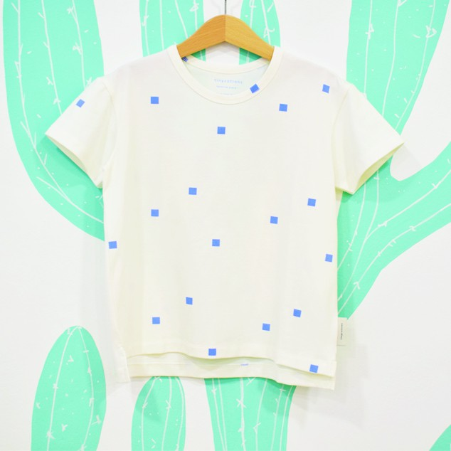 SQUARES DOTS TEE - Tiny Cottons