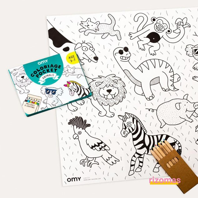 Pocket Colouring Animales - Omy