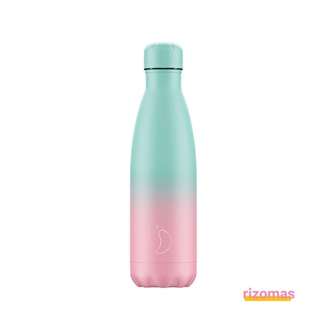 Botella termo 500 ml Gradiente Menta/Rosa - Chilly's bottles