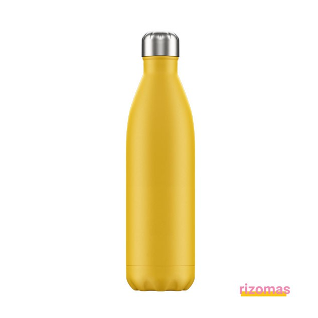 Botella termo 750 ml Amarilla Mate - Chilly's bottles