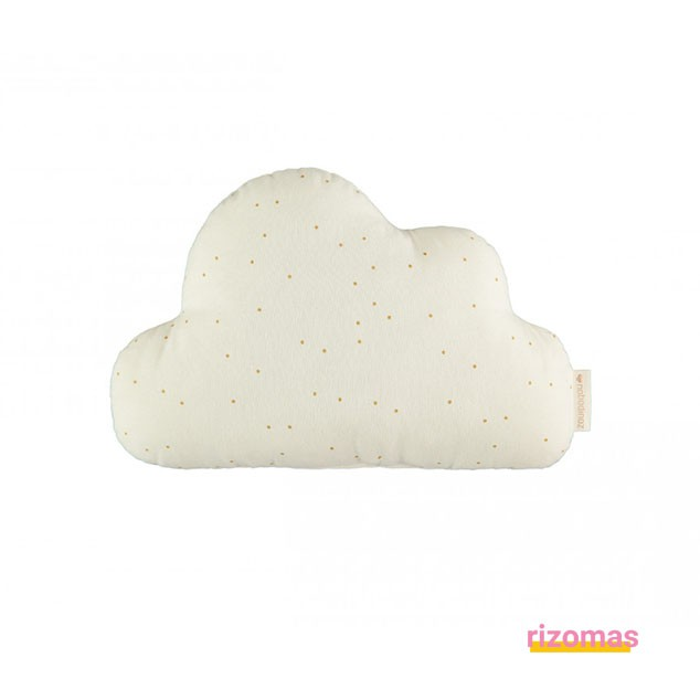 Cojín Cloud cushion honey sweet dots natural - Nobodinoz