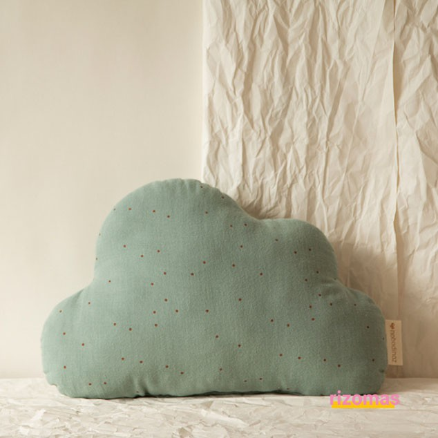 Cojín Cloud cushion toffee sweet dots eden green - Nobodinoz
