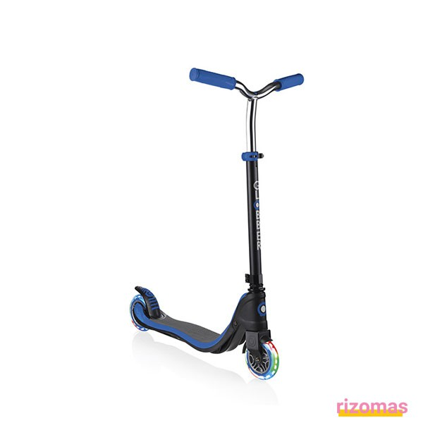 Patinete flow 125 lights negro y azul - Globber
