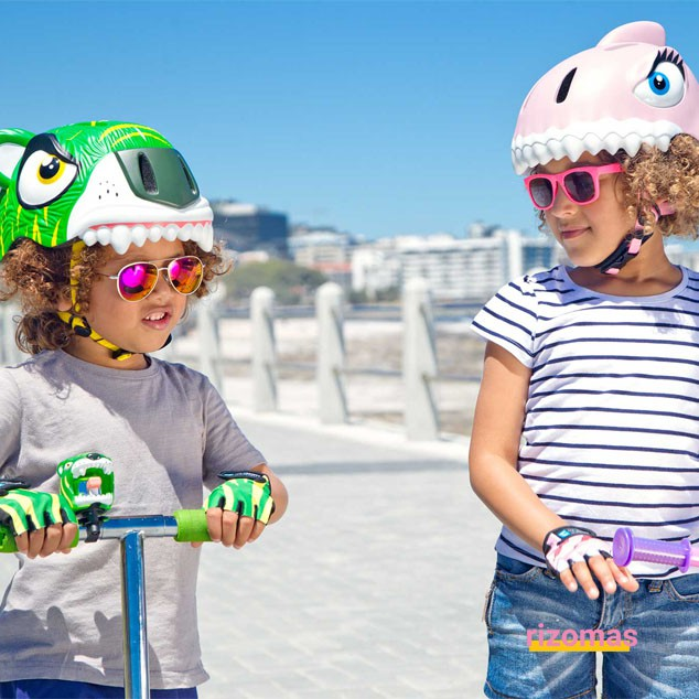Casco Infantil Tiburón Rosa - Crazy Safety
