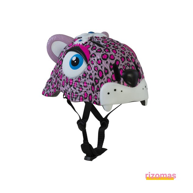 Casco Infantil Leopardo Rosa - Crazy Safety