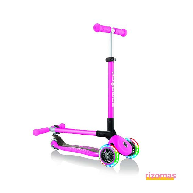 Patinete primo plegable lights Rosa - Globber