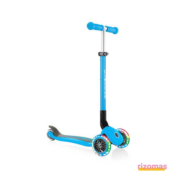 Patinete primo plegable lights Azul Cielo - Globber