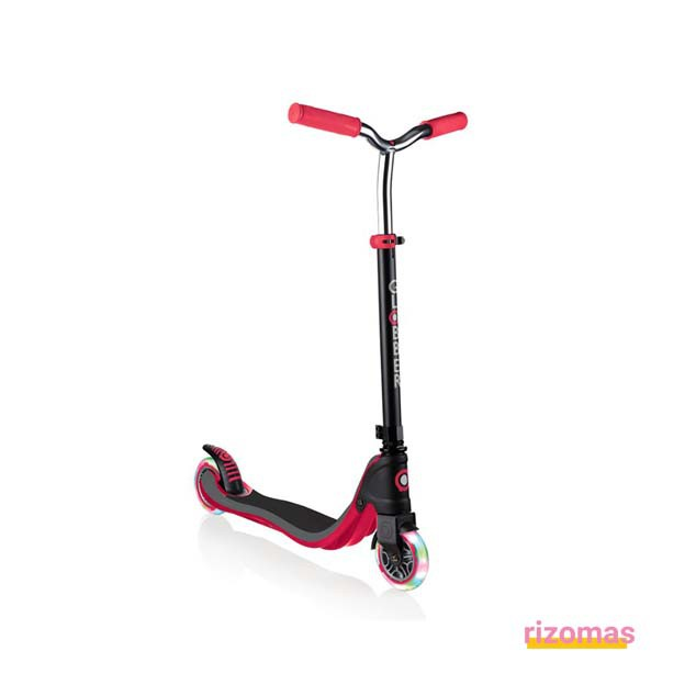 Patinete flow 125 lights negro & rojo - Globber