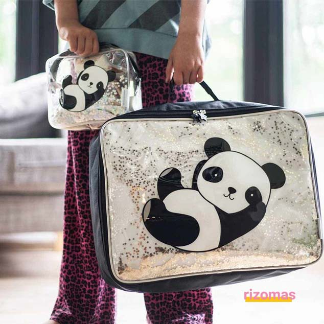 Maleta Purpurina Panda - A Little Lovely Company