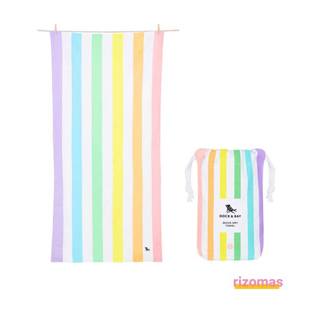 Toalla Dock & Bay Summer Rainbow Pastel