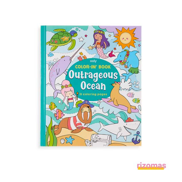 Color in Book Outrageous Ocean - Ooly