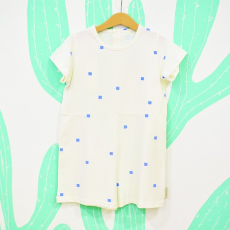 SQUARES DOTS ONEPIECE - Tiny Cottons