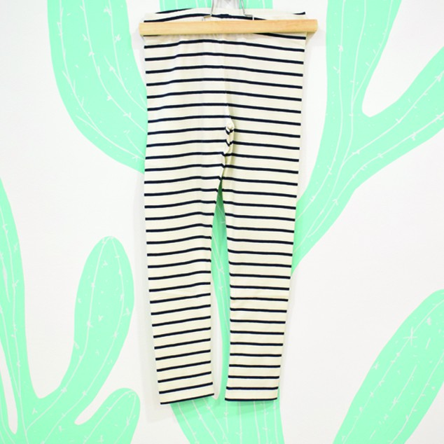 STRIPES PANT WHITE / NAVY - Tiny Cottons