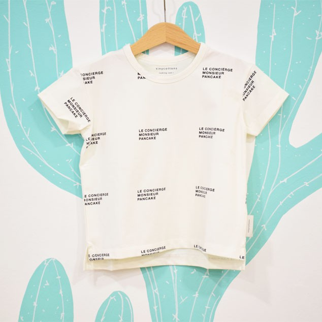 LE CONCIERGE TEE WHITE / NAVY - Tiny Cottons