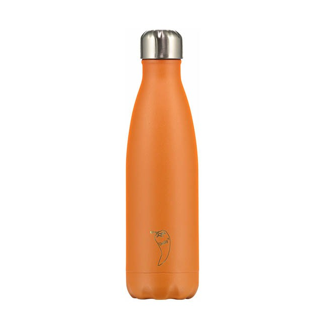 Botella termo 500ml Naranja Mate - Chilly's bottles