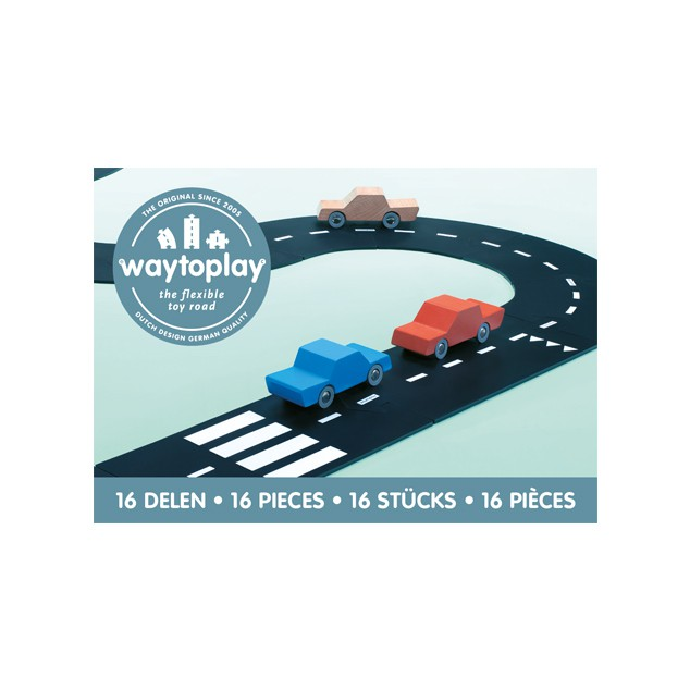 Carreteras flexibles 16 piezas - Waytoplay